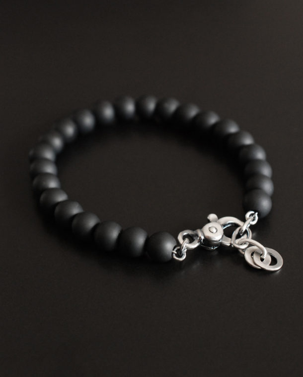man black bracelet
