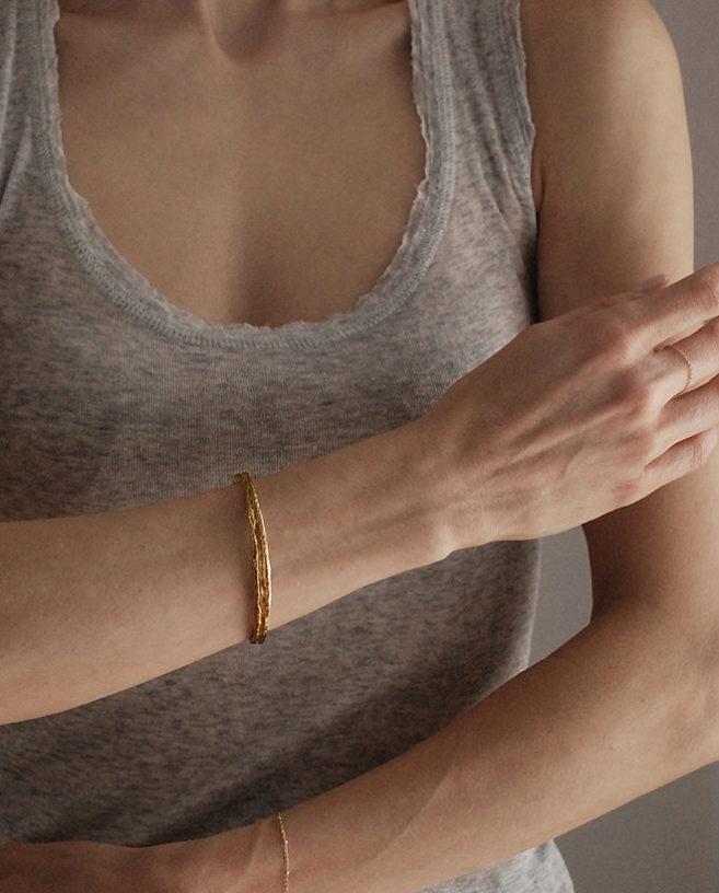 organic gold bracelet
