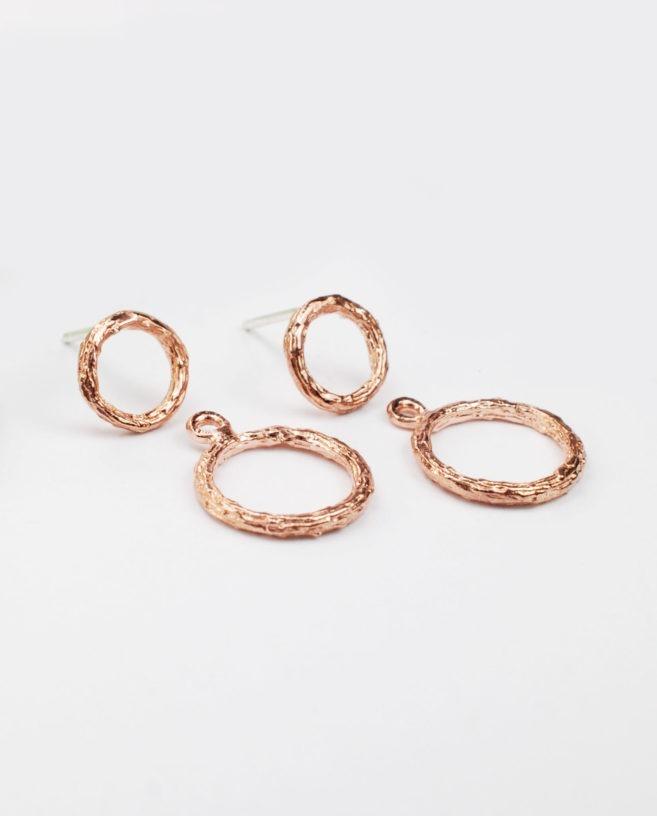 boucles d'oreilles or rose