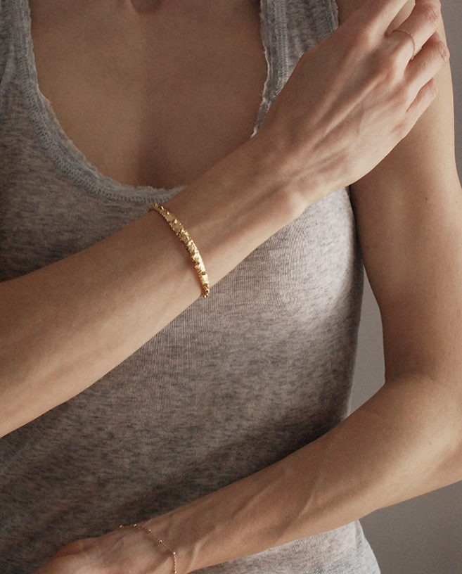 edgy gold bracelet