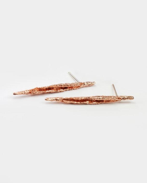 Boucles d'oreilles moderne or rose