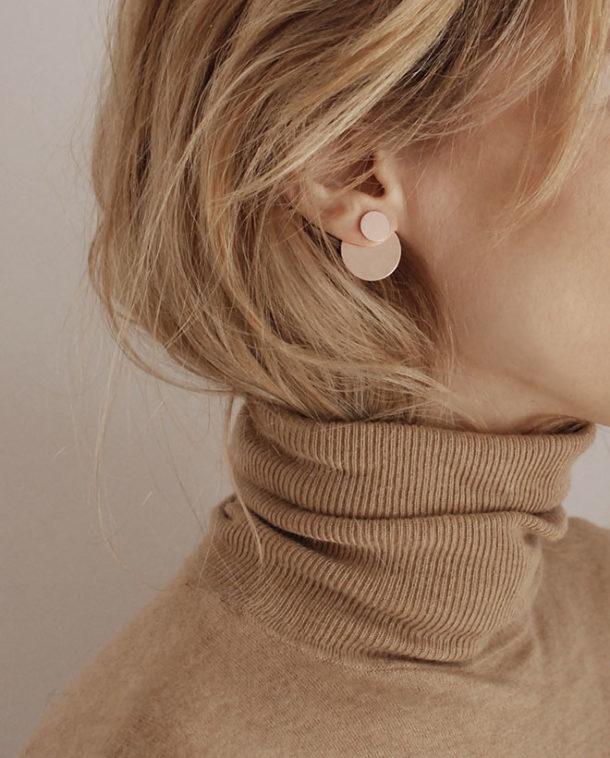 rose gold modern earrings