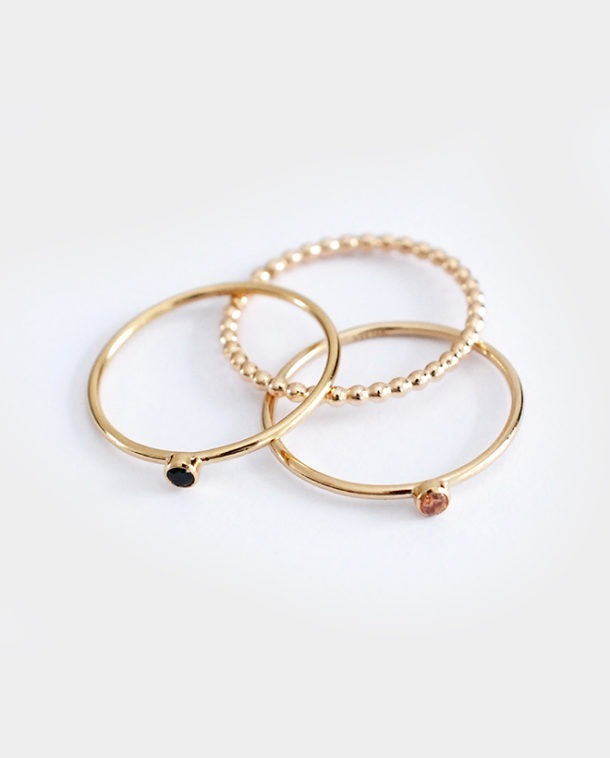 dainty gold rings
