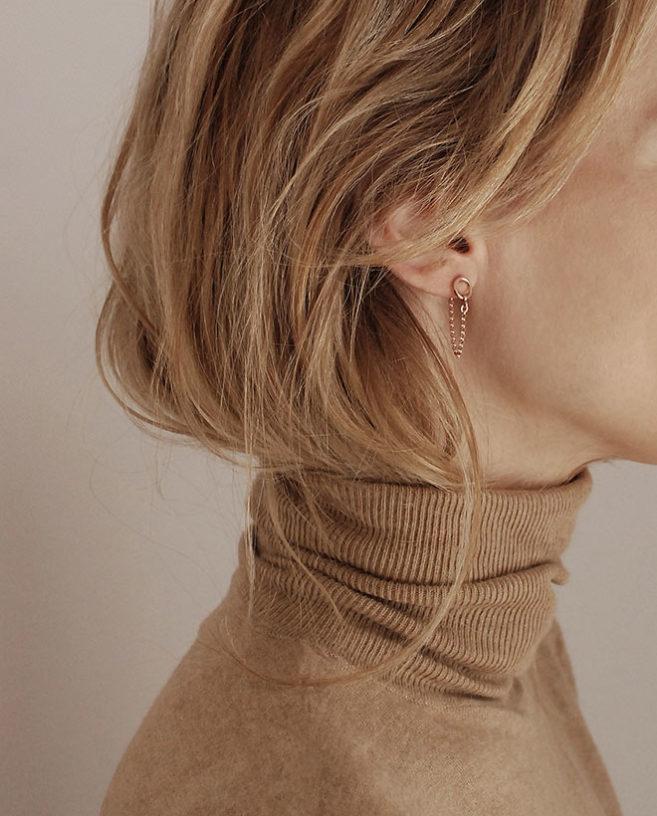 dainty rose gold earrings