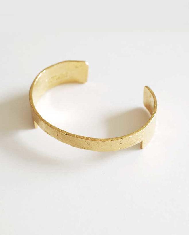 textured gold bracelet