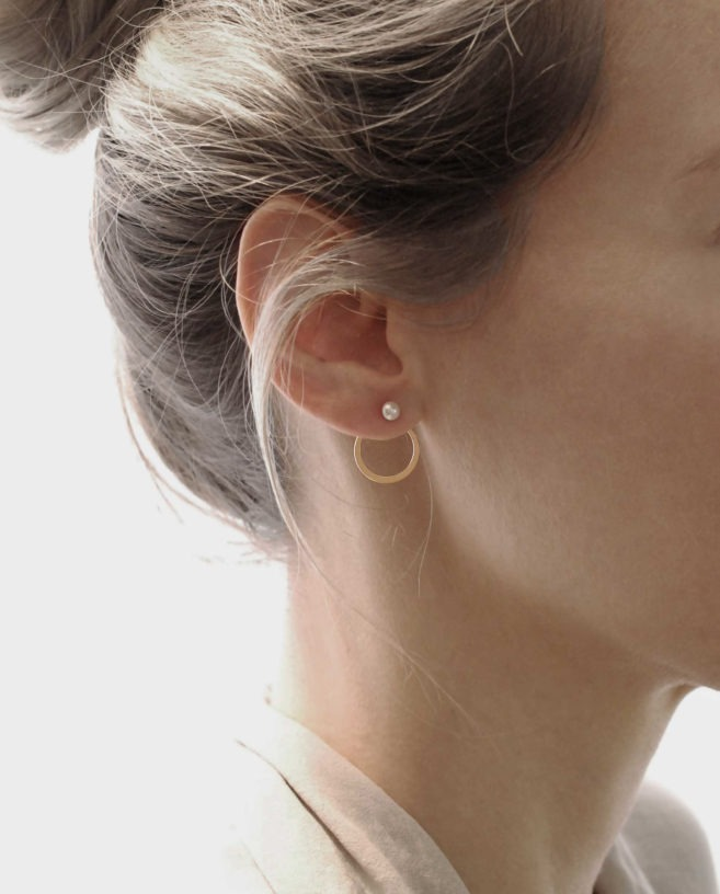 delicate ear jacket gold