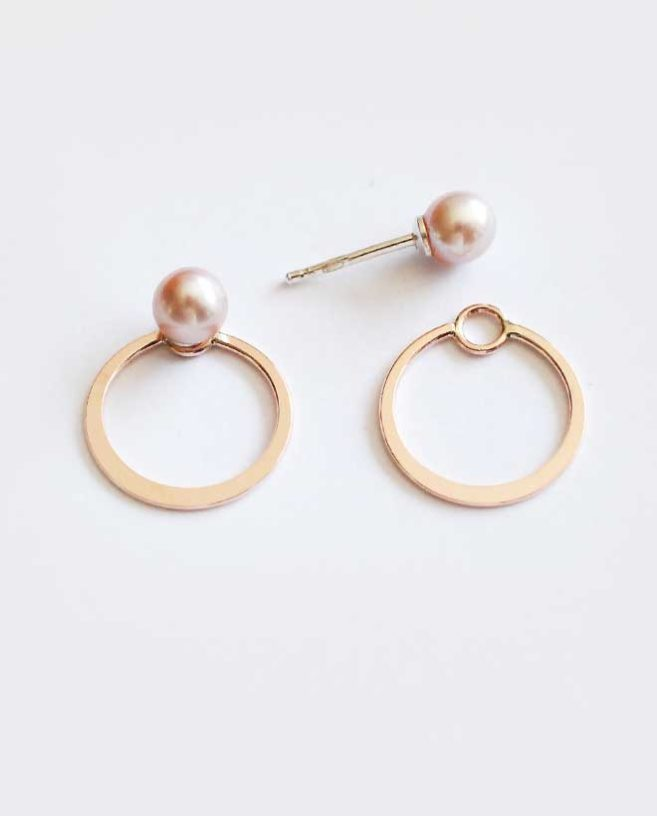 small ear jacket earrings