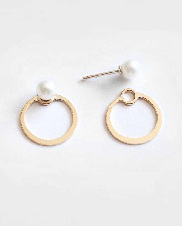 boucles d'oreilles or et perle