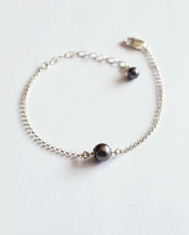 delicat bracelet argent et perle