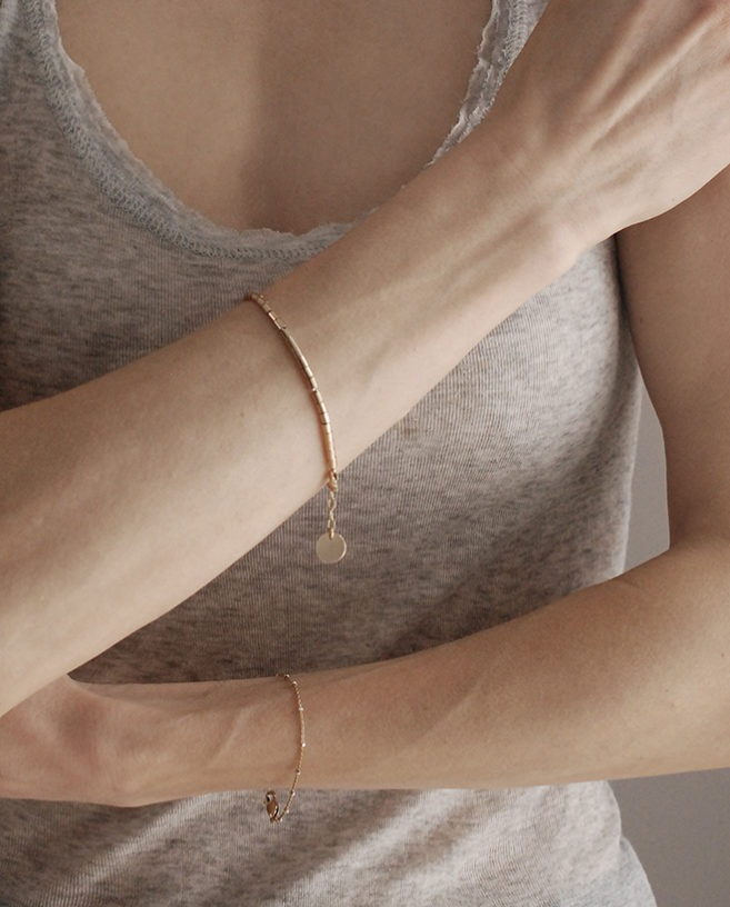 stacking gold bracelet